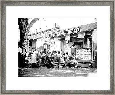Eugenics Lecture At Public Fair Framed Print by American Philosophical Society