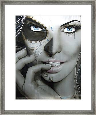 Sugar Skull - ' Euphoric Angel ' Framed Print by Christian Chapman Art