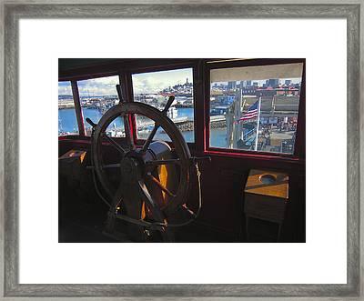 Eureka Ferry Wheelhouse Framed Print by Daniel Hagerman