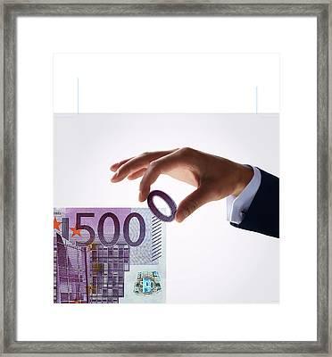 Euro Inflation Framed Print by Smetek