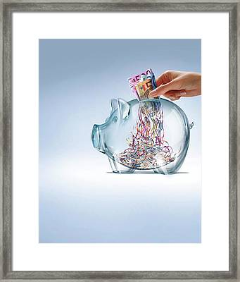 Euro Savings Crisis Framed Print by Smetek