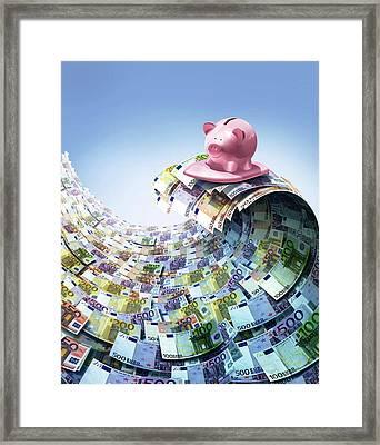 Euro Savings Framed Print by Smetek