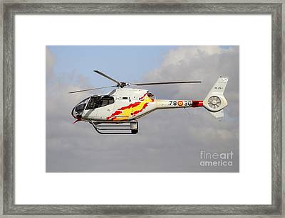 Eurocopter Ec120 Helicopter Framed Print by Riccardo Niccoli