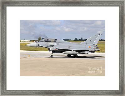 Eurofighter Ef2000 Typhoon Framed Print by Riccardo Niccoli