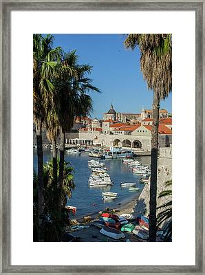 Europe, Croatia, Dubrovnik, Boats Framed Print by Jim Engelbrecht