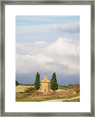 Europe, Italy, Tuscany, San Quirico Framed Print by Julie Eggers