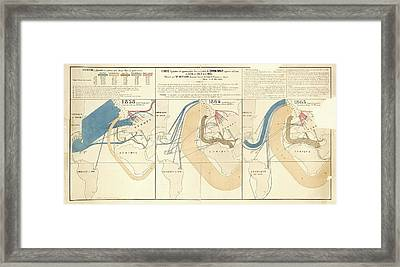 European Cotton Imports Framed Print by Library Of Congress, Geography And Map Division
