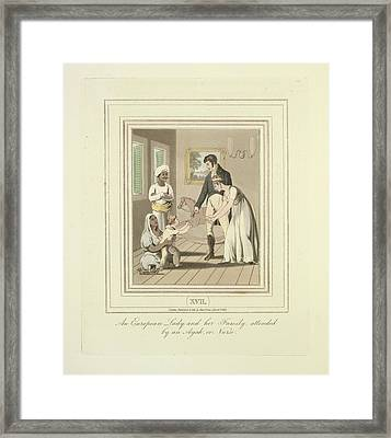 European Family Attended Framed Print by British Library