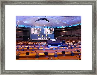 European Parliament Voting Room Framed Print by Rumyana Whitcher