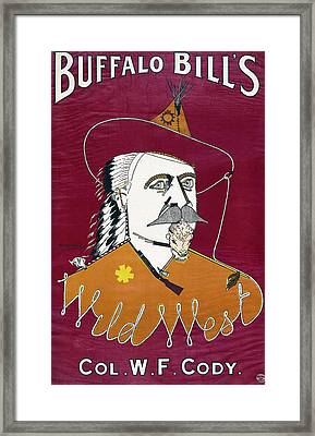 Buffalo Bill Wild West Show Announcement - 1890 Framed Print by Daniel Hagerman