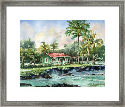 Eva Parker Woods Cottage Framed Print by Lisa Bunge