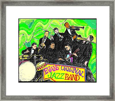 Evans Original Jazz Band Framed Print by Mel Thompson