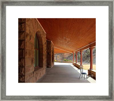 Framed Print featuring the photograph Evans Porch by Bill Gabbert