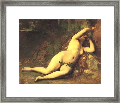 Eve After The Fall Framed Print by Alexandre Cabanel