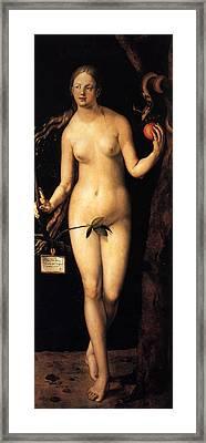 Eve Framed Print by Albrecht Durer