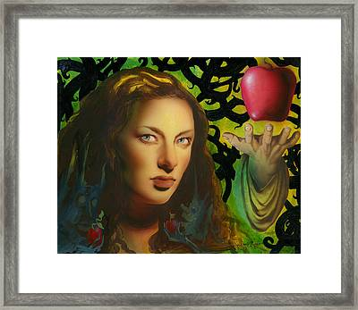 Eve And The Apple Framed Print by Luis  Navarro