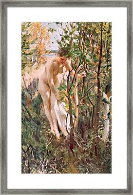 Eve Framed Print by Anders Leonard Zorn