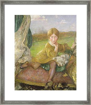 Evelyn Framed Print by Annie Louisa Swynnerton