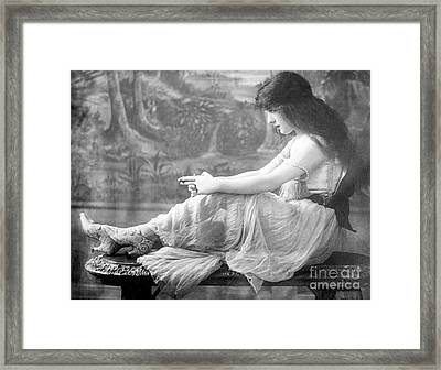 Evelyn Nesbit, American Model Framed Print by Science Source