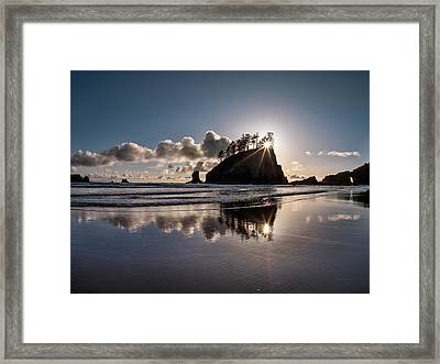 Evening At Second Beach Framed Print by Leland D Howard