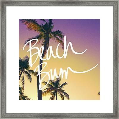 Evening Beach Bum Framed Print by Emily Navas