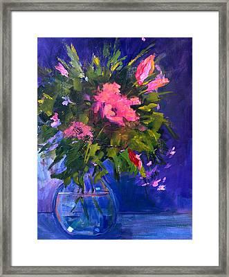 Evening Blooms Framed Print by Nancy Merkle