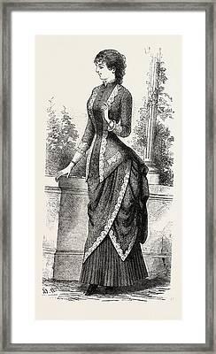 Evening Demi Toilette, Fashion Framed Print by English School