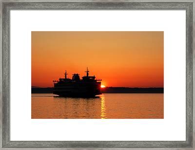 Evening Ferry Framed Print by Alexander Fedin