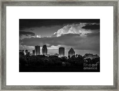 Evening Gray Framed Print by Marvin Spates