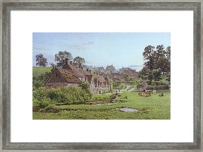 Evening In Arlington Row Framed Print by Newton Bennett