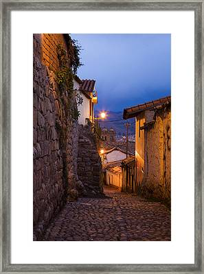 Evening In Cusco  Framed Print by Alexey Stiop