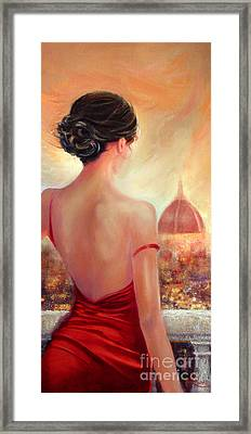 Evening In Florence Framed Print by Michael Rock