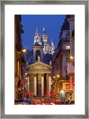 Evening In Paris Framed Print by Brian Jannsen