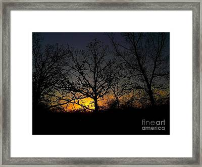 Evening In The Indian Nations Framed Print by R McLellan
