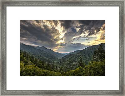 Evening In The Smokies Framed Print by Andrew Soundarajan