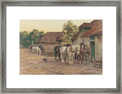 Evening Framed Print by Joseph Harold Swanwick
