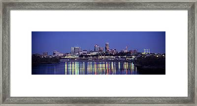 Evening Kansas City Mo Framed Print by Panoramic Images