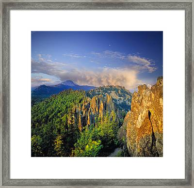 Evening Light In The Mountains Framed Print by Vladimir Kholostykh