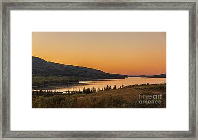 Evening Light On St. Mary Lake Framed Print by Robert Bales