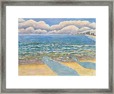 Evening North Myrtle Beach Framed Print by Patricia Eyre