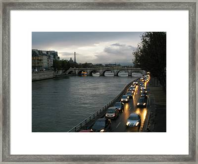 Evening On Pont Au Change  Framed Print by Joe Schofield