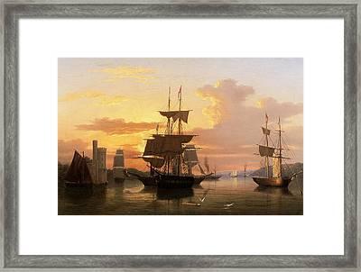 Evening On The River Lee Below Blackrock Castle Framed Print by GMW Atkinson