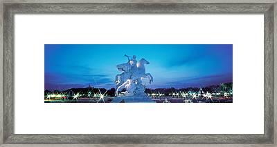 Evening Place De La Concorde Paris Framed Print by Panoramic Images
