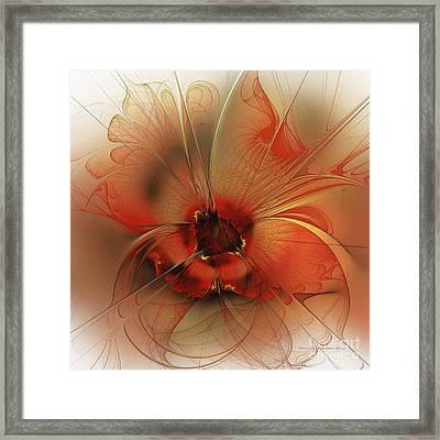 Evening Queen Framed Print by Karin Kuhlmann