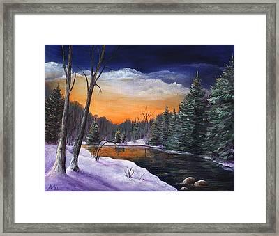 Evening Reflection Framed Print by Anastasiya Malakhova