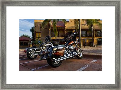 Evening Riders Framed Print by Peter Chilelli
