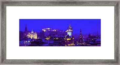 Evening, Royal Castle, Edinburgh Framed Print by Panoramic Images