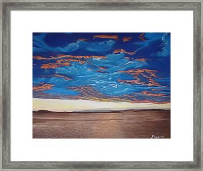 Evening Sky Framed Print by Harvey Rogosin