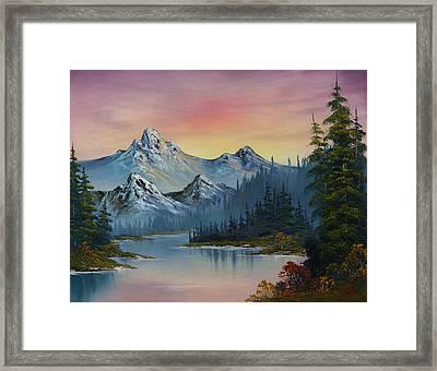 Evening Splendor Framed Print by C Steele