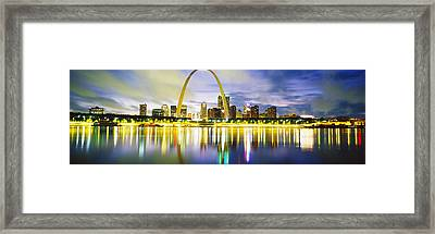 Evening, St Louis, Missouri, Usa Framed Print by Panoramic Images
